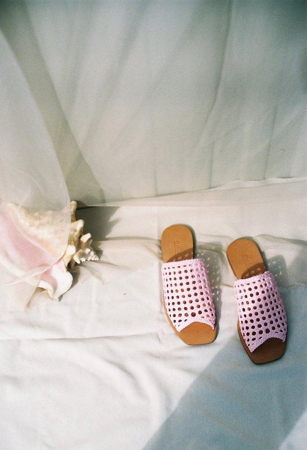 Nelson Made Helena Woven Slide - Lilac