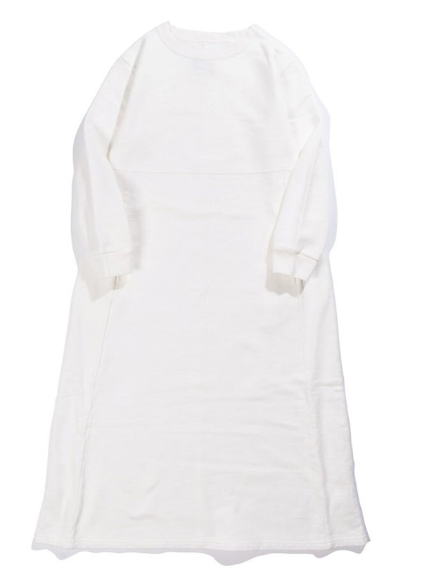 Blue Blue Japan Slub Sweat Pullover Dress - White