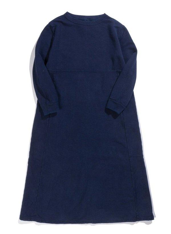 Blue Blue Japan Slub Sweat Pullover Dress - Indigo