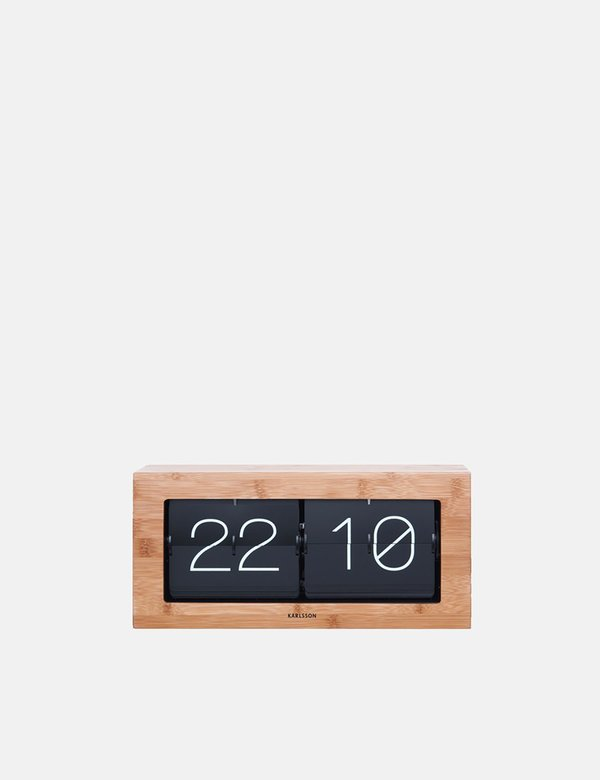 Article. Karlsson Flip Clock Boxed XL - Bamboo