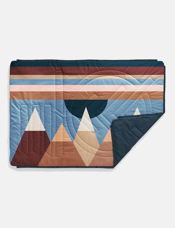 Voited Blankets Recycled Ripstop Outdoor Pillow Blanket - Monadnock/Legion Blue
