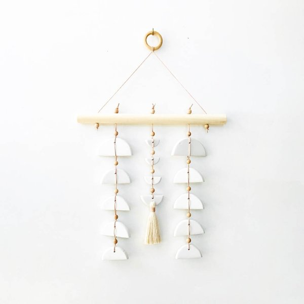 West Perro Sonoran Sunset Wall Hanging - white