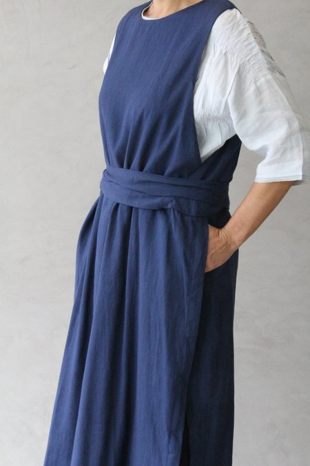 Runaway Bicycle Farmer's Tunic in Cotton - Navy