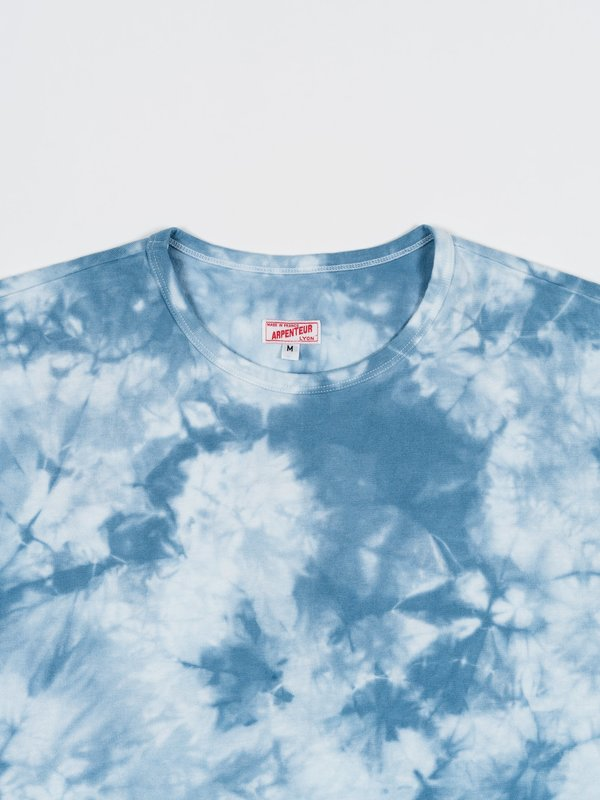 Arpenteur Pastel T-Shirt - White/Light Blue Foliage Tie-Dye