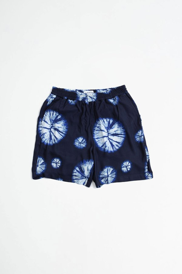 Libertine Libertine Front shorts - navy tie dye