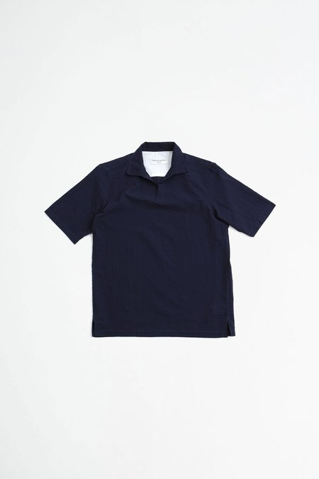 Officine Generale Yann popover shirt - navy