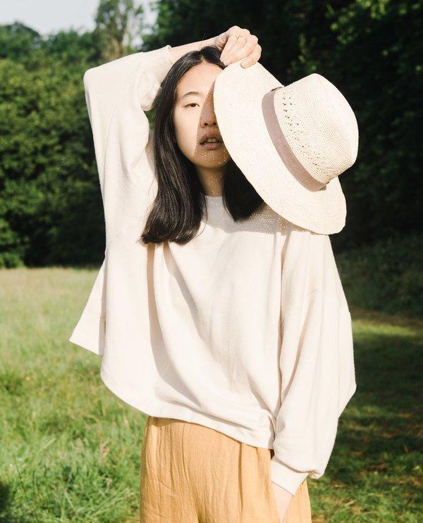 beaumont organic supersoft serenity sweater - bone