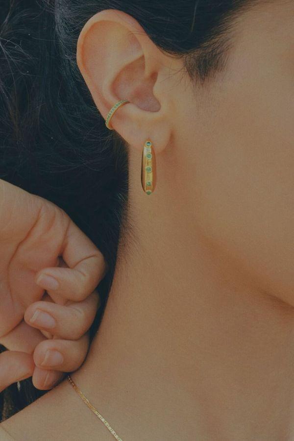 Maria Black Colore Mint Ear Cuff