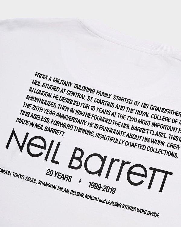 Neil Barrett Anniversary T Shirt - white/black