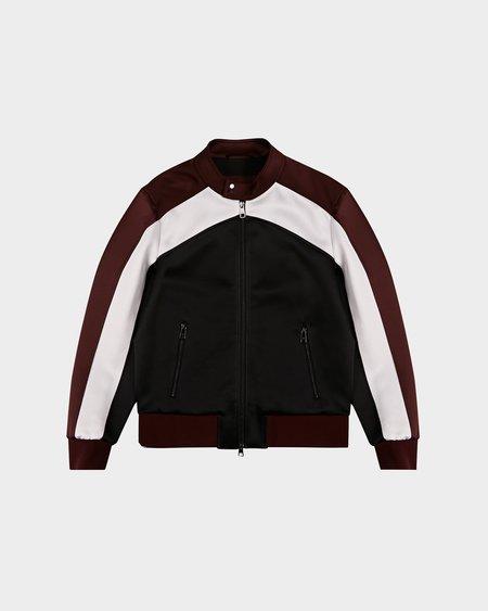 Neil Barrett Modern Rayon Stretch Jacket - Bordeaux/White/Black