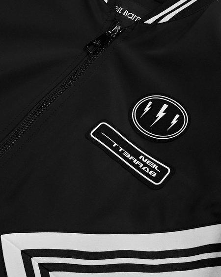 Neil Barrett Modern Varsity Jacket - BLACK/WHITE
