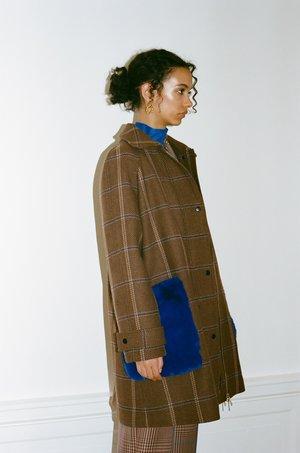 Wray Darcy Coat - cobalt