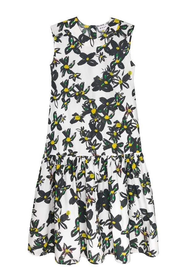 Wray Gathered Shift Dress - daisy