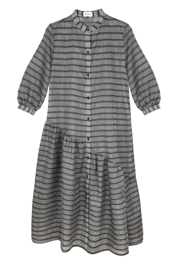 Wray Gathered Shirt Dress - Sheer Venetian