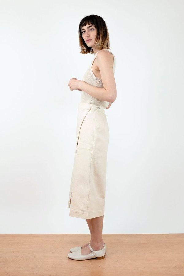 Micaela Greg Cream Wrap Skirt - cream