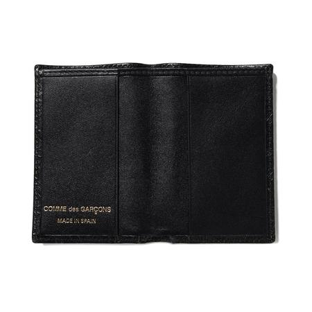 Comme des Garçons Embossed Leather Wallet - Black