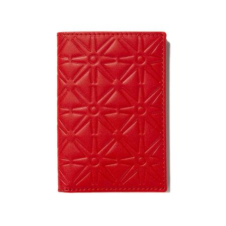 Comme des Garçons Embossed Leather Wallet - Orange