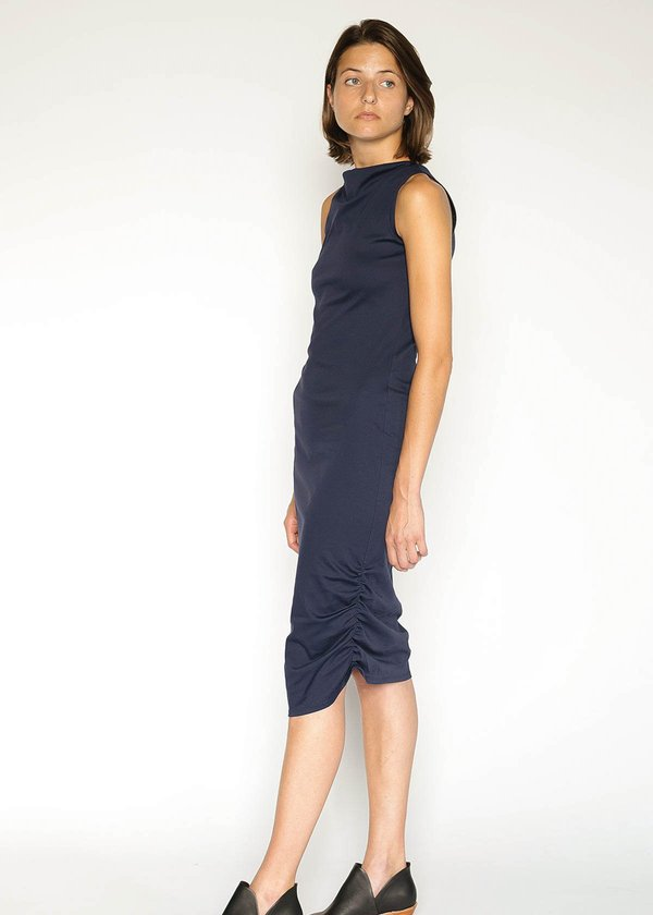 A.Oei  Neck Dress - Navy