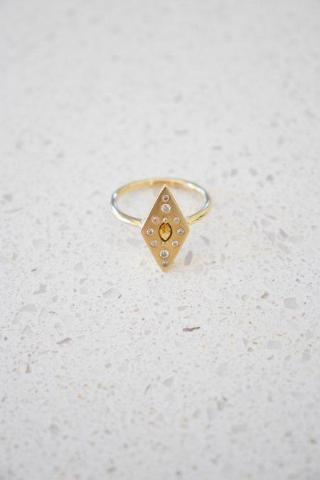 Boudov Double Diamond Ring - Yellow Gold
