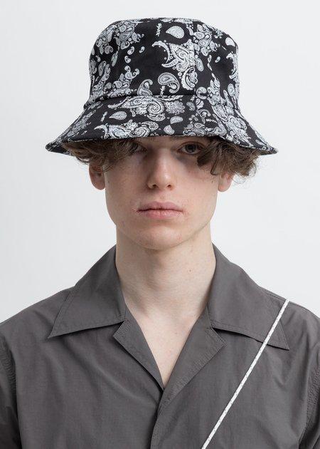 Salute Bandana Bucker Hat - black