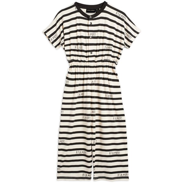 kids mini rodini a la mer playsuit - off white