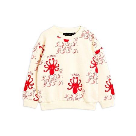 kids mini rodini octopus sweatshirt - off white