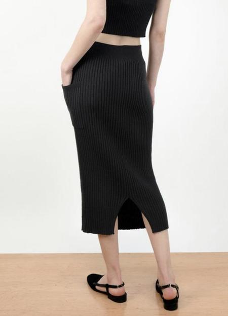 Micaela Greg Rae Rib Skirt - black
