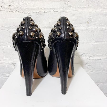 [Pre-loved] Alaia Leather Studded Pumps - Black
