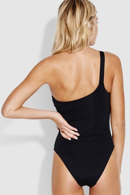 Seafolly One Shoulder Maillot - Black