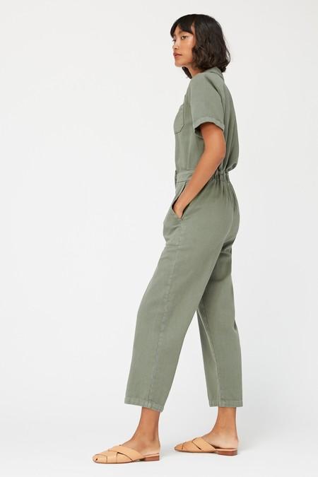 Lacausa Milwood Short Sleeve Jumpsuit - Seaweed Green