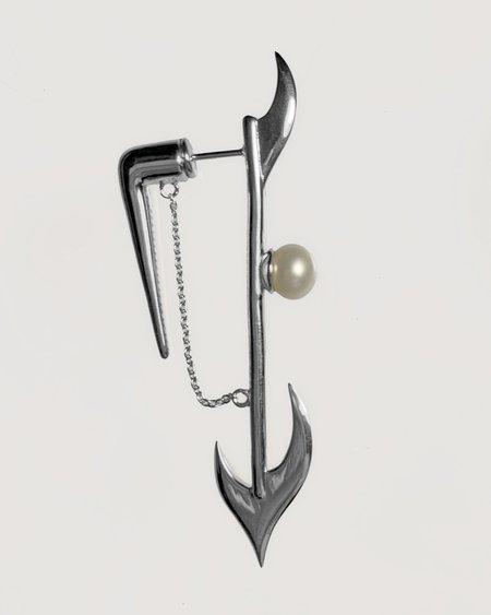 Austin James Smith Pearl Harpoon Single Earring - Sterling silver