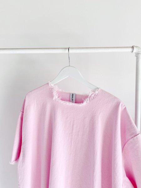 Ashley Rowe Denim Tee - Pink