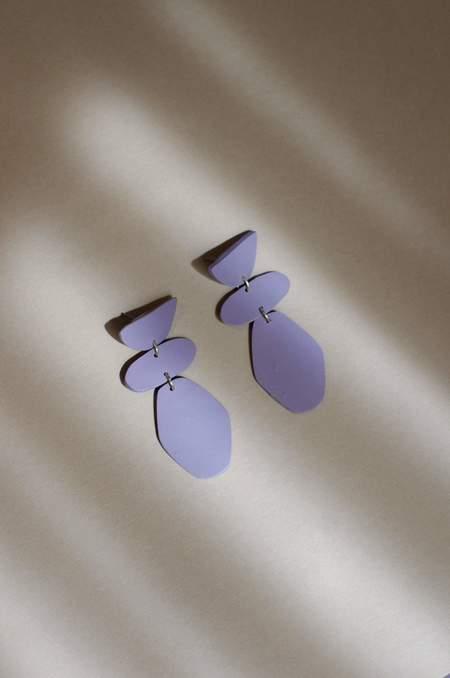 Xenia Studio Stepping Stone Earrings - Purple
