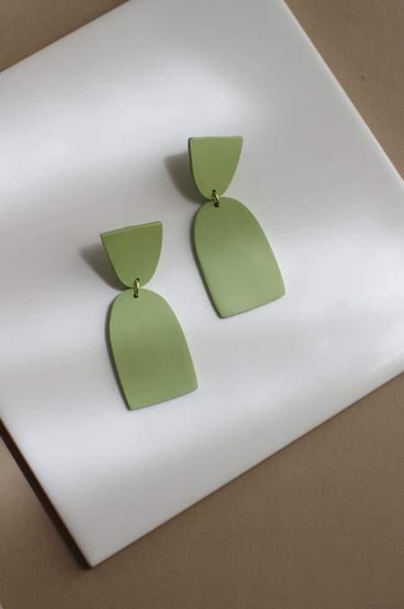 Xenia Studio Column Earrings - Green