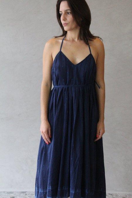 Maku Spica Cotton Silk Dress - Blue