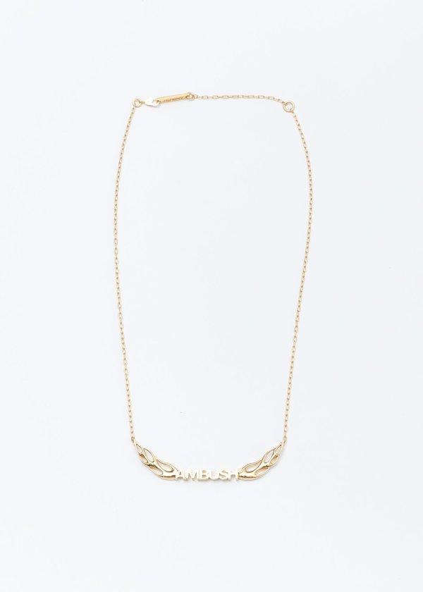 Ambush Flame Necklace 2 - Gold