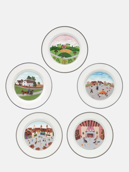 VILLEROY & BOCH Design Naif Salad Plate Set Of 5