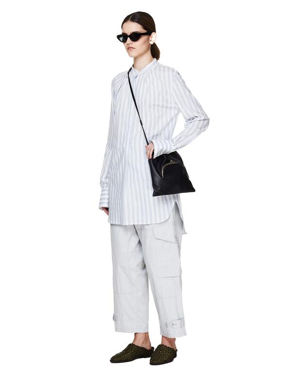 Y's by Yohji Yamamoto Leather Crossbody Bag - black