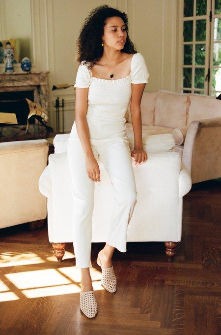 Lisa Says Gah Sophie Cap Sleeve Jumpsuit - Ivory