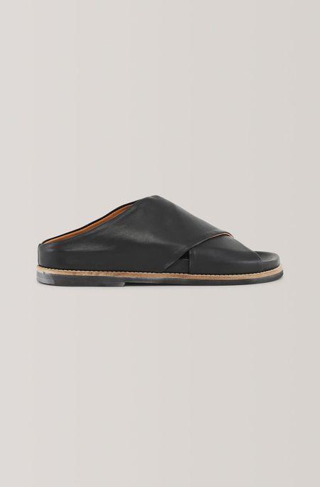 Ganni Flat Sandal - Black
