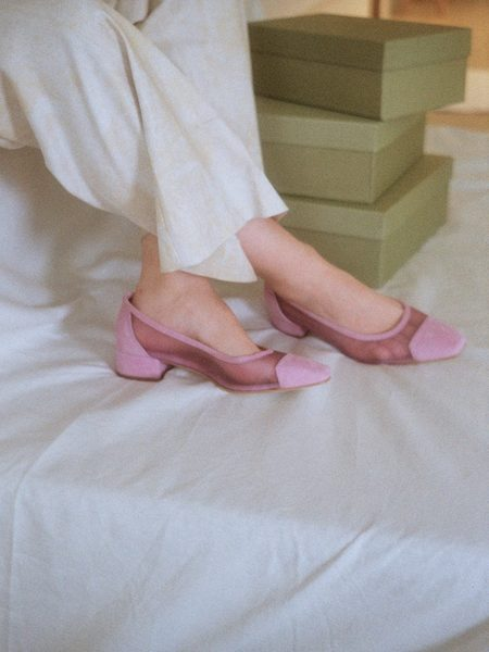 About Arianne Mina Mesh Pump - orchid