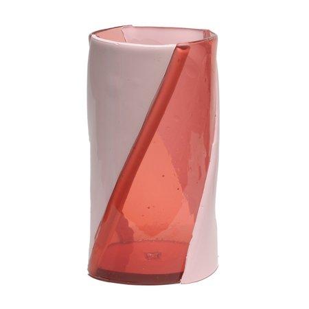 CORSI Large Twirl Vase - Clear Pink/Matte Pink