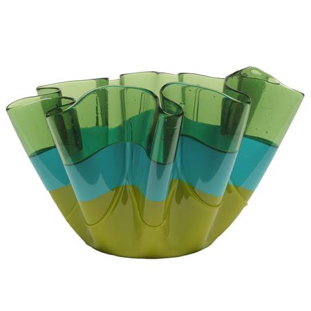 Corsi Medium Sfumati Vase - Clear Green/Matte Turquoise/Matte Green