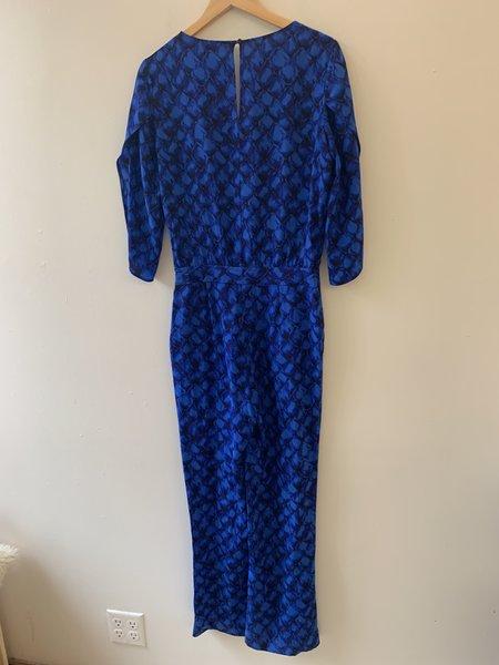 [Pre-Loved] Diane von Furstenberg Silk Jumpsuit - Blue