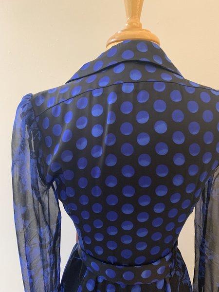 [Pre-Loved] Diane von Furstenberg Mixed Printed Dress - navy/black