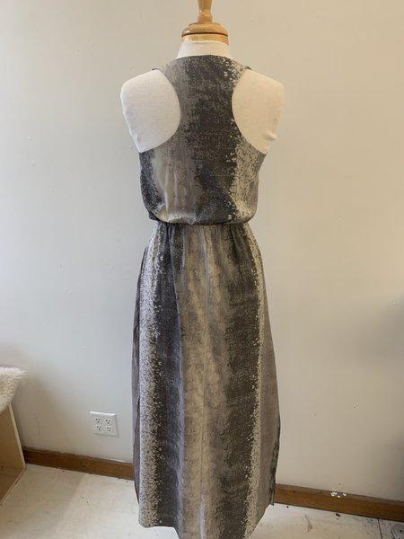 [Pre-Loved] Helmut Lang Printed Maxi Dress - grey multi