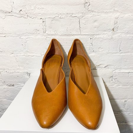 [pre-loved] Charlotte Stone Leather Pumps - Tan