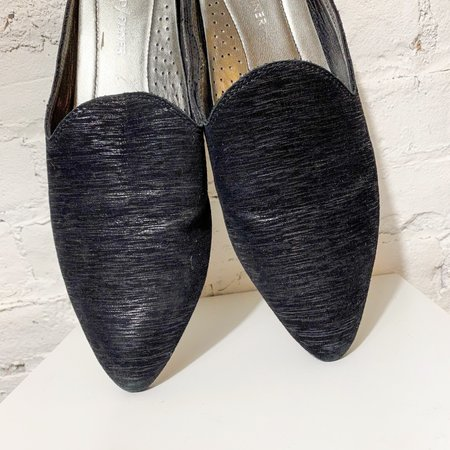 [pre-loved] Donald Pliner Metallic Mules - black