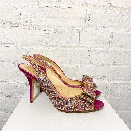 [pre-loved] Kate Spade Glitter Pumps - hot pink