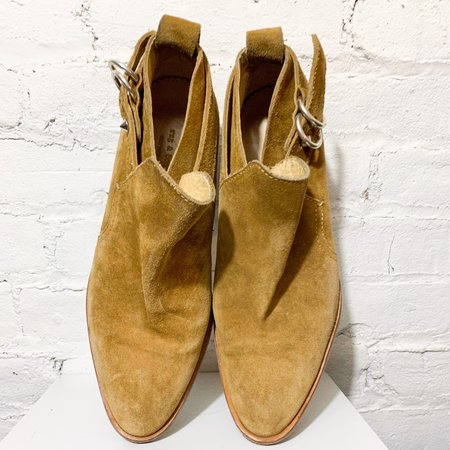 [pre-loved] Rag & Bone Suede Ankle Boot - Tan